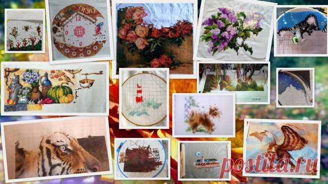 Осенний вышивальный марафон рукодельниц Дзена. Отчитываемся, что успели за сентябрь | Вышивка и акварель | Яндекс Дзен