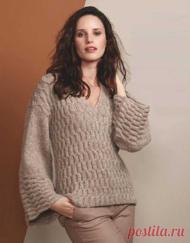 Пуловер рельефным узором - Lilia Vignan