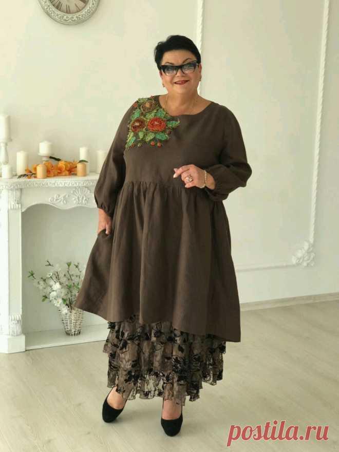 f21be30389d Купить Платье-туника с аппликацией в интернет магазине на Ярмарке Мастеров