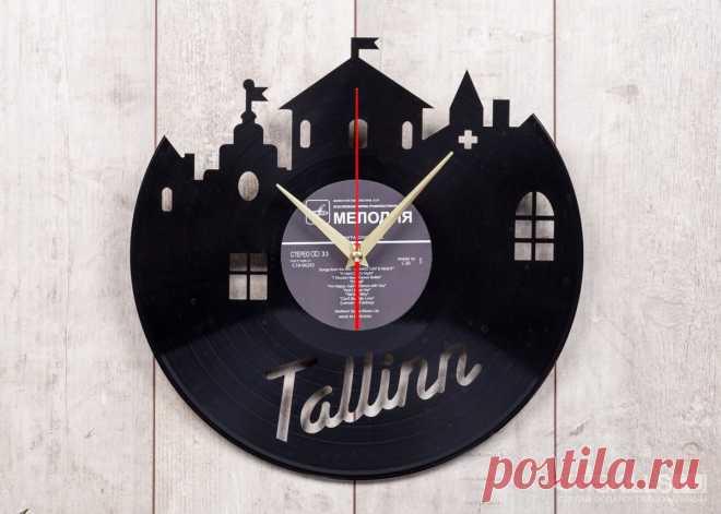 Часы из виниловой пластинки «Далеко ли до Таллина» купить подарок в ArtSkills: фото, цена, отзывы