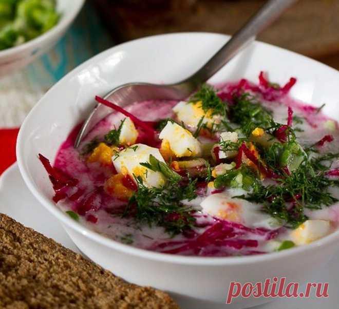 Холодный суп из свеклы рецепт с фото