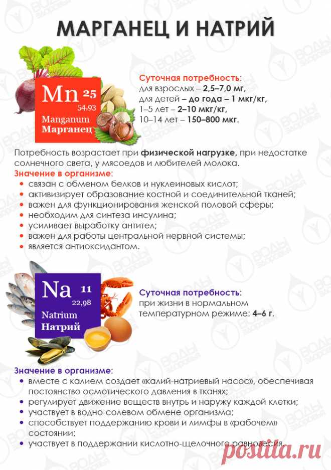 Знакомимся с макро- и микроэлементами: марганец, натрий