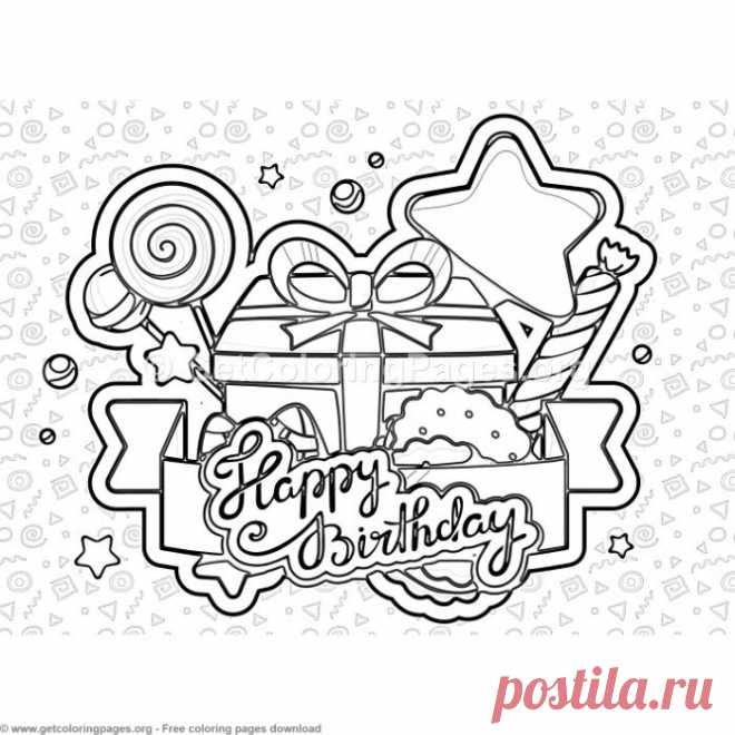 7 Happy Birthday Coloring Pages – GetColoringPages.org