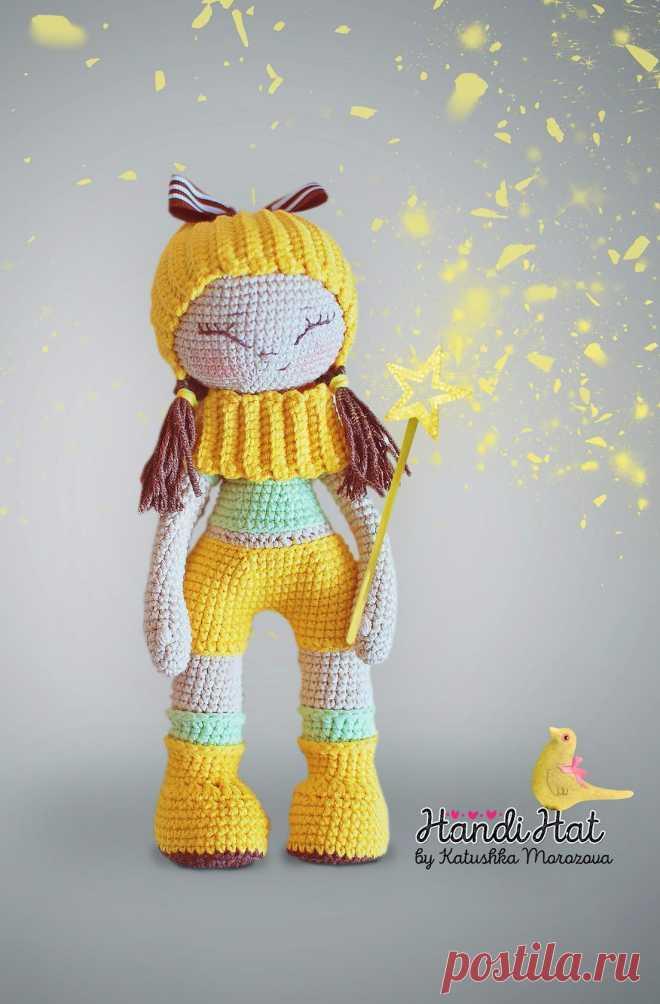 Куклена Екатерины Морозовой! Забавная девчушка понравится и ребенку и взрослому! Описание: https://vk.com/topic-81786810_35137279 #ИгрушкиКрючком #ОписаниеИгрушек_Куклы