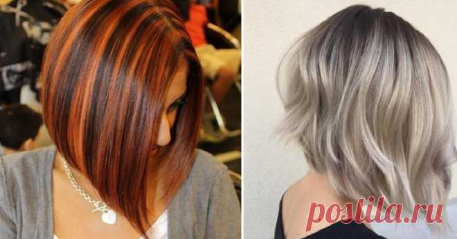 It is time to refresh a caret: 18 stylish options of highlighting of short hair