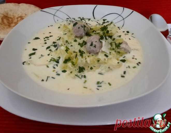 Капустный сливочный суп с фрикадельками – кулинарный рецепт