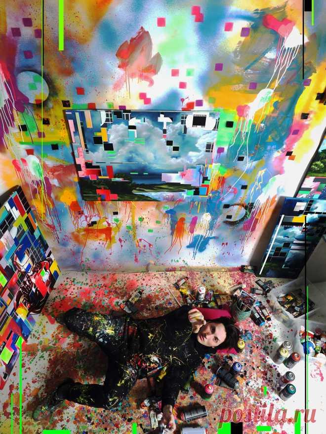 Lebedef Art  #Lebedef  Че Гевара / Lebedef in glitch  Холст 80см на 100см/ масло/акрил/аэрозоль/Москва 2019/Lebedef  Картина продается пишите в директ