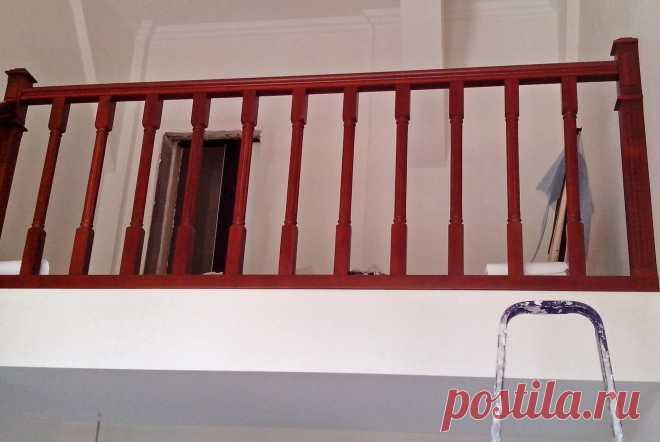 Лестница и ограждения из дерева