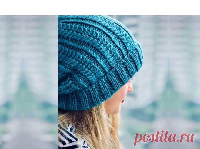 3 красивые модные шапки, связанные спицами (с описанием)   Идеи рукоделия   Яндекс Дзен