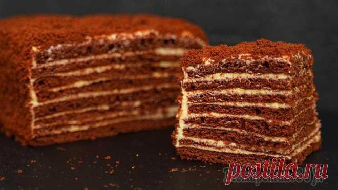 Шоколадный медовик – Торт Спартак