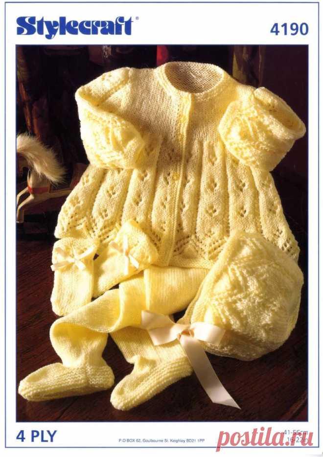 Вязание для новорожденных и малышей одежды со схемами и описанием. - страница 8