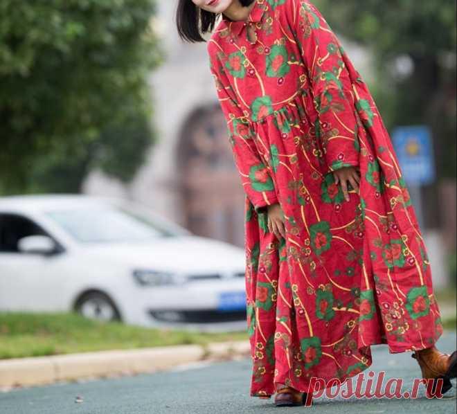 Winter Warm Linen dress plus size clothes bridal dress Prom | Etsy