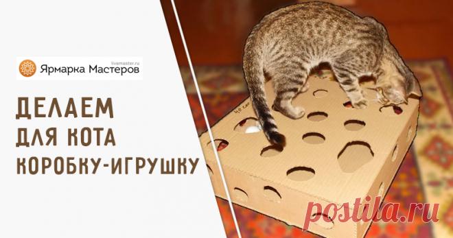 Делаем игрушку для кота из картона: видео мастер-класс | Журнал Ярмарки Мастеров Делаем игрушку для кота из картона: видео мастер-класс – бесплатный мастер-класс по теме: Do It Yourself / Сделай сам ✓Своими руками ✓Пошагово ✓С фото