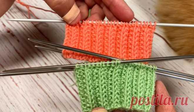Плотная, эластичная резинка для вязания манжет, шапок, снудов (Вязание спицами) – Журнал Вдохновение Рукодельницы