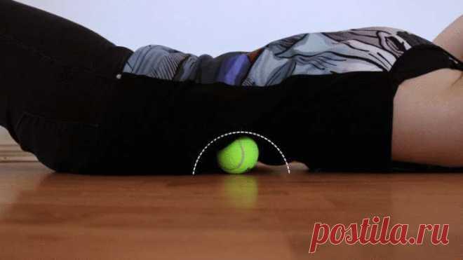 Болит шея, затекает спина, ноют колени? Поможет теннисный мяч и всего 7 простых упражнений! — Мир интересного