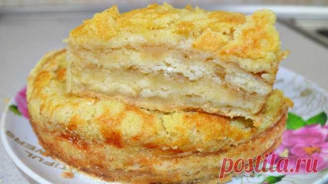 Насыпной яблочный пирог | Самые вкусные кулинарные рецепты