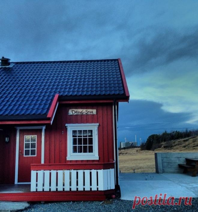 Домик в котором я жил в Норвегии. Пригород города Бьюгн