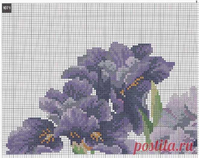 Вышивка крестом цветы в вазе. Бесплатные схемы по вышивке крестом | Домоводство для всей семьи.