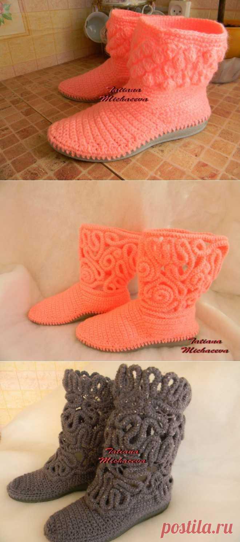 (+1) тема - вязаная обувь(мои работы) | РУКОДЕЛИЕ