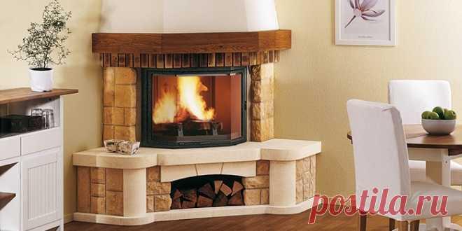 Угловая печь-камин: обзор лучших моделей с фото