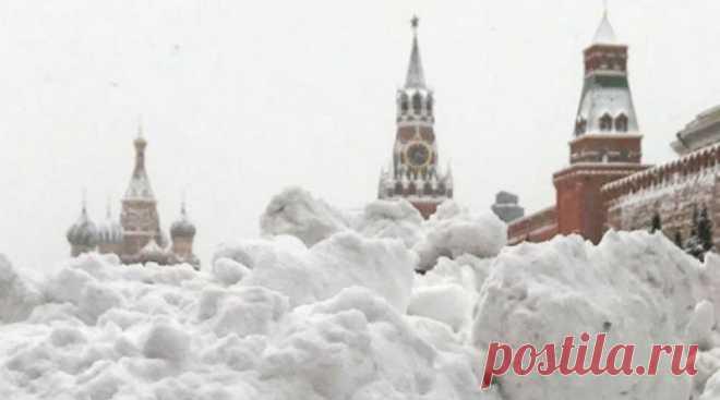Результат небывалого снегопада в Москве . Чёрт побери