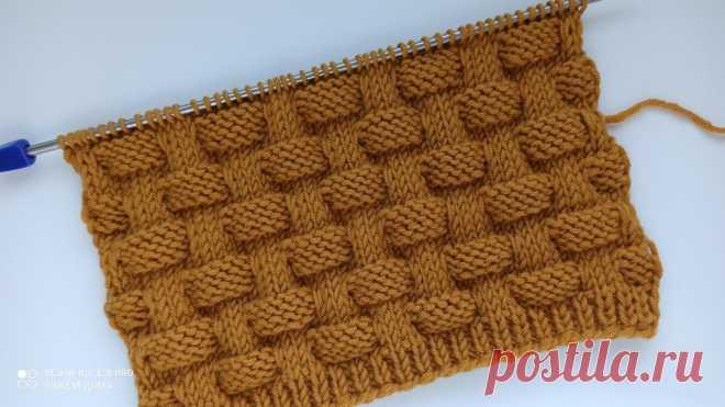Красивый, объемный, простой узор спицами для вязания пледов, кардиганов, свитеров, шапок. | Вяжем дома с Татьяной | Яндекс Дзен