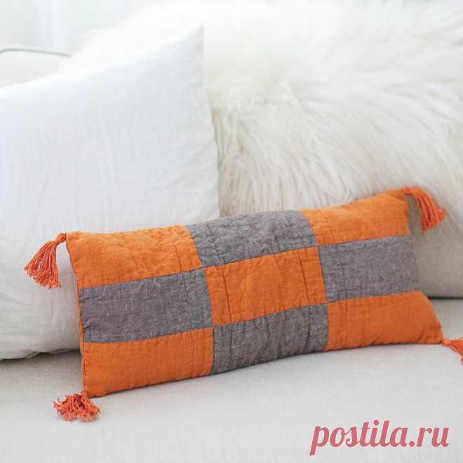 Лоскутная подушка в стиле бохо: мастер-класс — Мастер-классы на BurdaStyle.ru