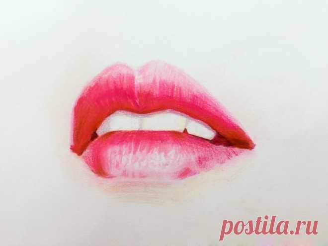 Правдоподобно рисуем губы поэтапно