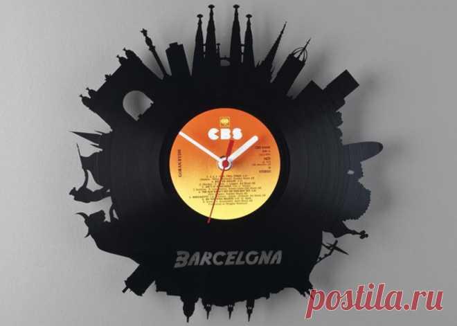 Часы из виниловой пластинки «Барселона» купить подарок в ArtSkills: фото, цена, отзывы