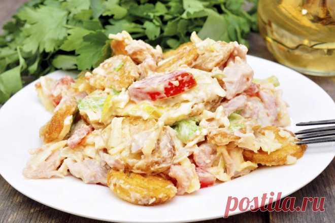 Свежий салат с курицей и как приготовить его к празднику
