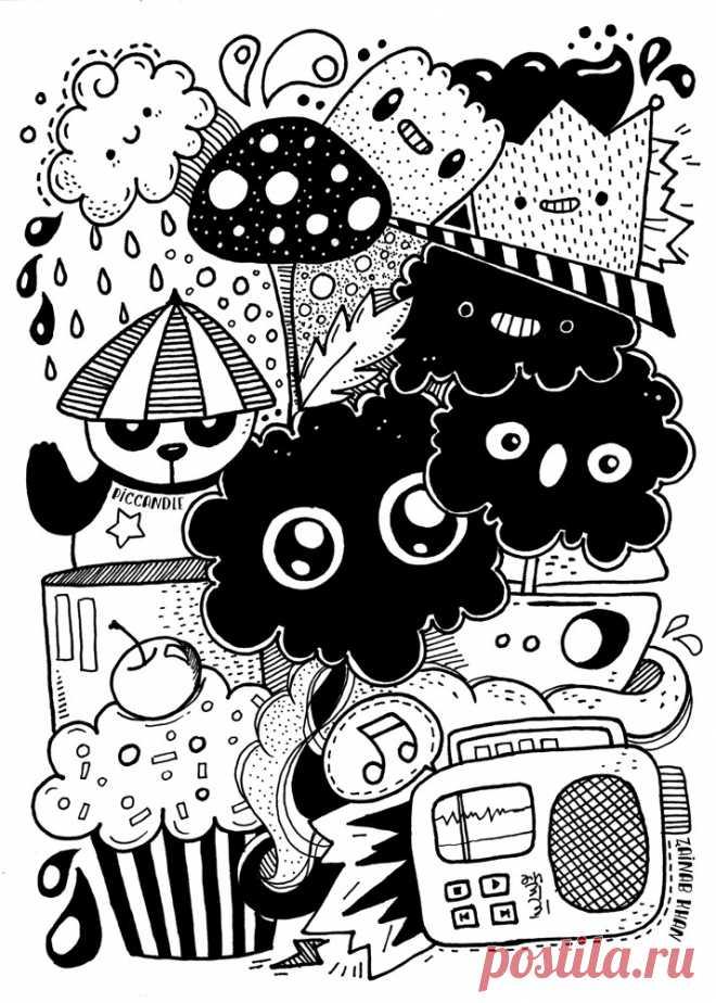 Смешные черно белые картинки для лд, анимация