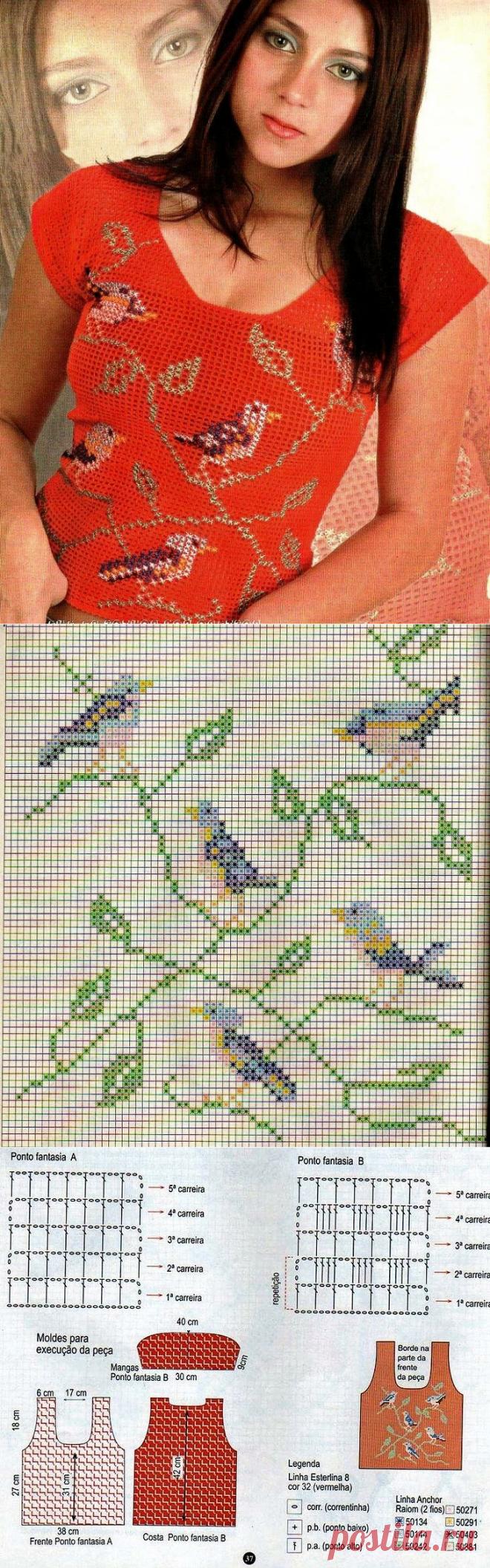 Филейное вязание + вышивка: интересные сочетания для моделей крючком | Левреткоман-оч.умелец | Яндекс Дзен