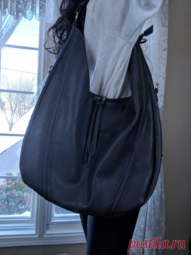 Large Hobo Handbags Leather Womens Bag Piel Coach Vintage Slouchy Purse Gray | eBay