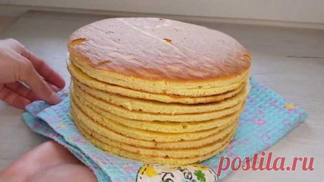 Ну очень вкусные Коржи для торта Молочная девочка Очень лёгкий рецепт