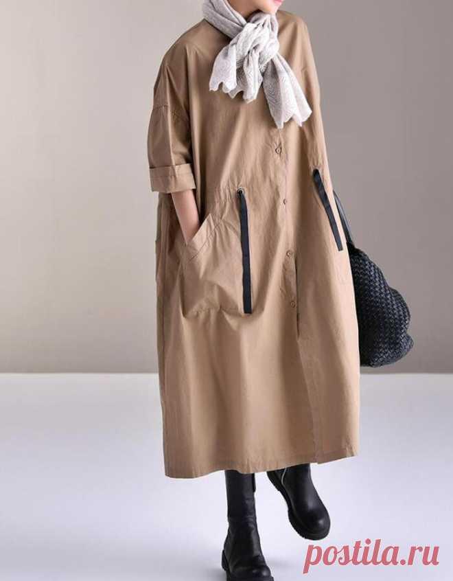 Women's cotton dresses button down shirt dress oversized   Etsy