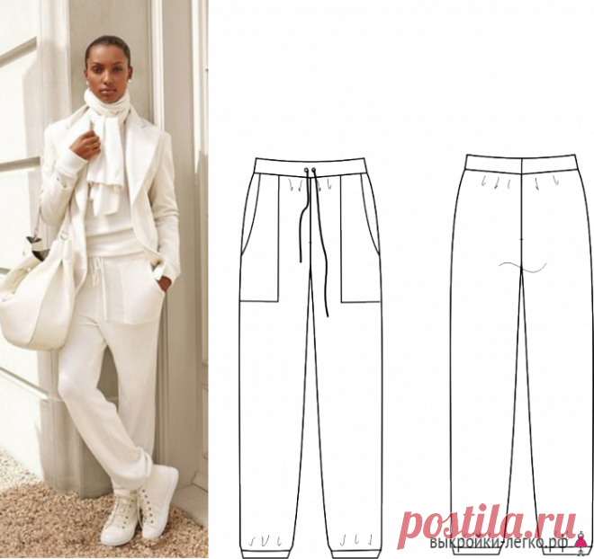How to sew trousers   Ready patterns and lessons of construction on Выкройки-Легко.рф