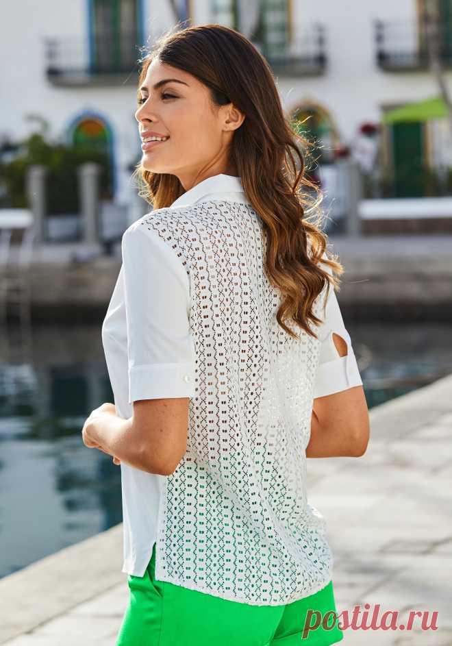 ff0305657c0 Блузка цвет  белый арт  1026003047 купить в Интернет магазине Quelle за  1999.00 руб -
