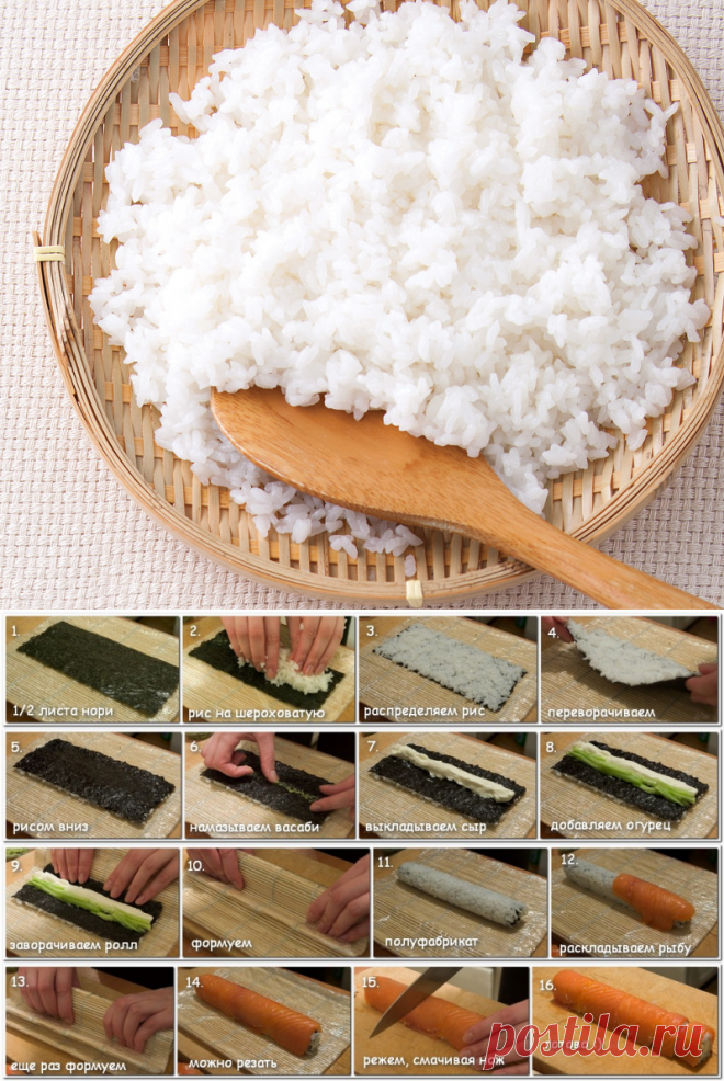 Как готовить рис в домашних условиях для ролл