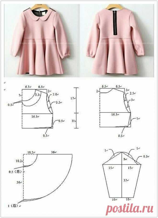 Выкройка детского платья Модная одежда и дизайн интерьера своими руками