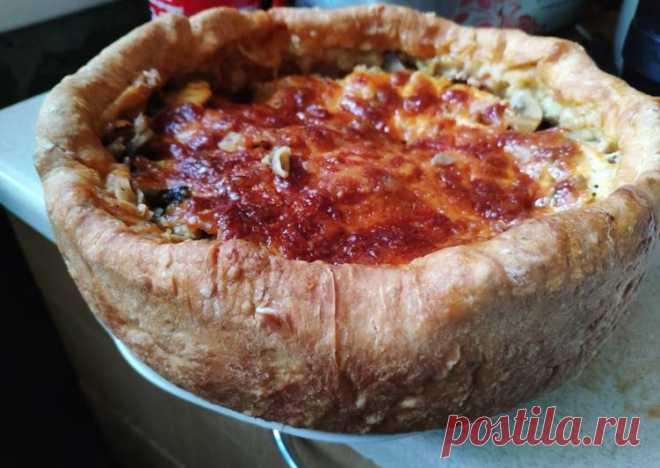 (9) Чикагский мясной пирог или закрытая пицца - пошаговый рецепт с фото. Автор рецепта Анна Закусило . - Cookpad