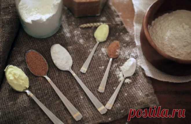 Мера продуктов в одной столовой ложке
