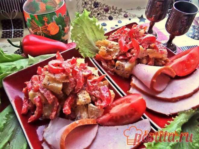 Картофельный салат   Foodbook.su Картофельный салат с овощами готовится можно сказать, на скорую руку. Если гости уже пришли а вы не успели приготовить салат, то этот рецепт как нельзя кстати.
