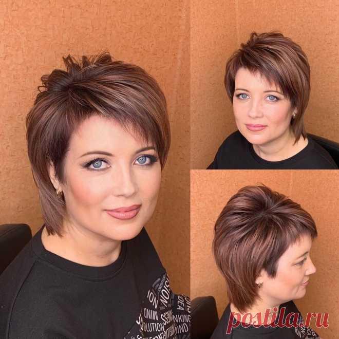 Красивая, стильная стрижка для коротких волос