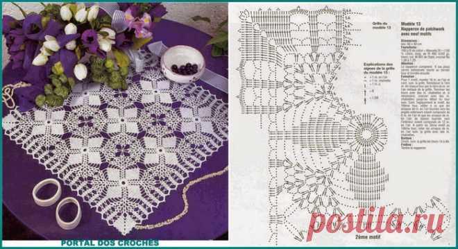 Схемы для вязания ажурных, овальных, квадратных. / рукоделие.