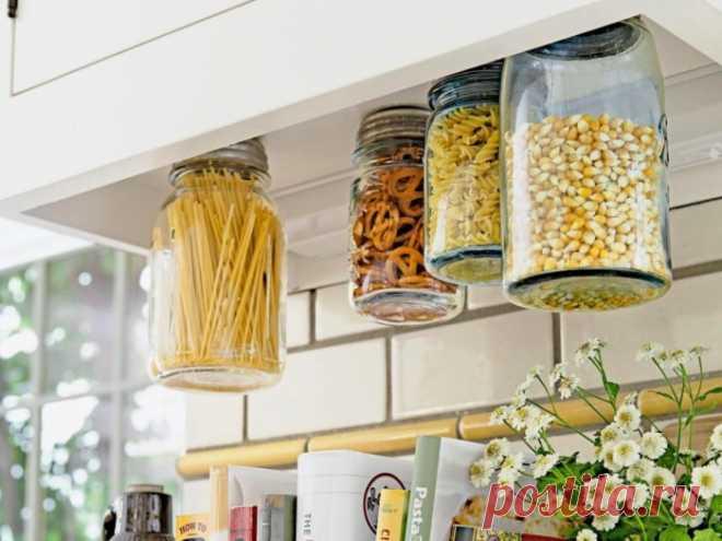 Как компактно хранить всякую всячину на кухне и делать это красиво . Чёрт побери