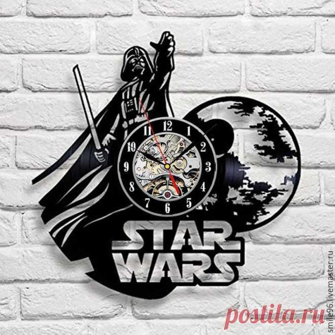 Часы из пластинки