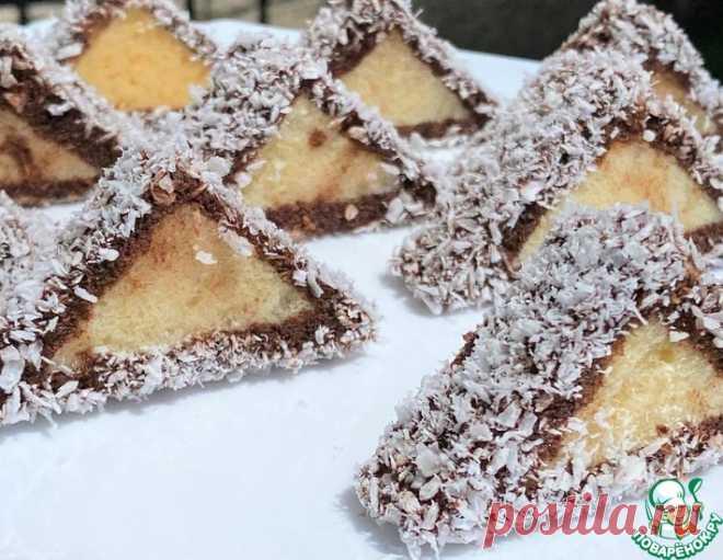 Бисквитные треугольники – кулинарный рецепт