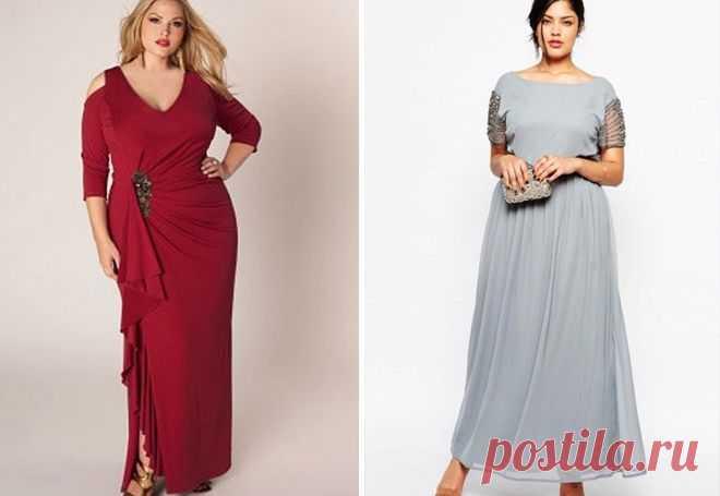 0397da113d106c1 Фасоны летних платьев для полных женщин – длинные в пол и миди, вечерние,  коктейльные
