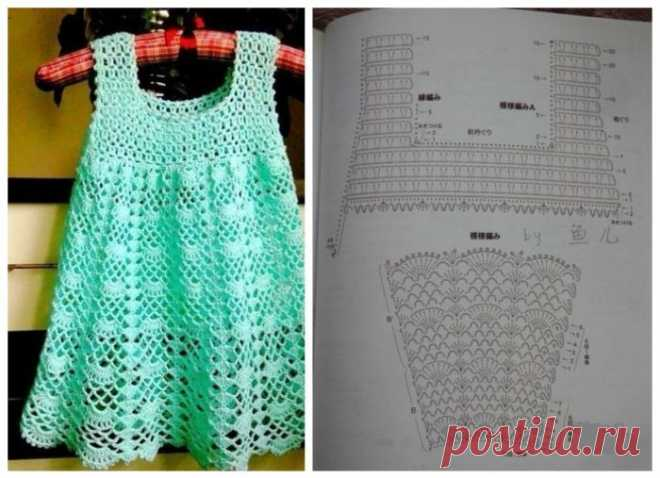 How to connect a beautiful children's sundress for the girl by a hook and spokes: the instruction for beginners. A knitted sundress for the girl spokes and a hook, summer, openwork, warm: the scheme with the description