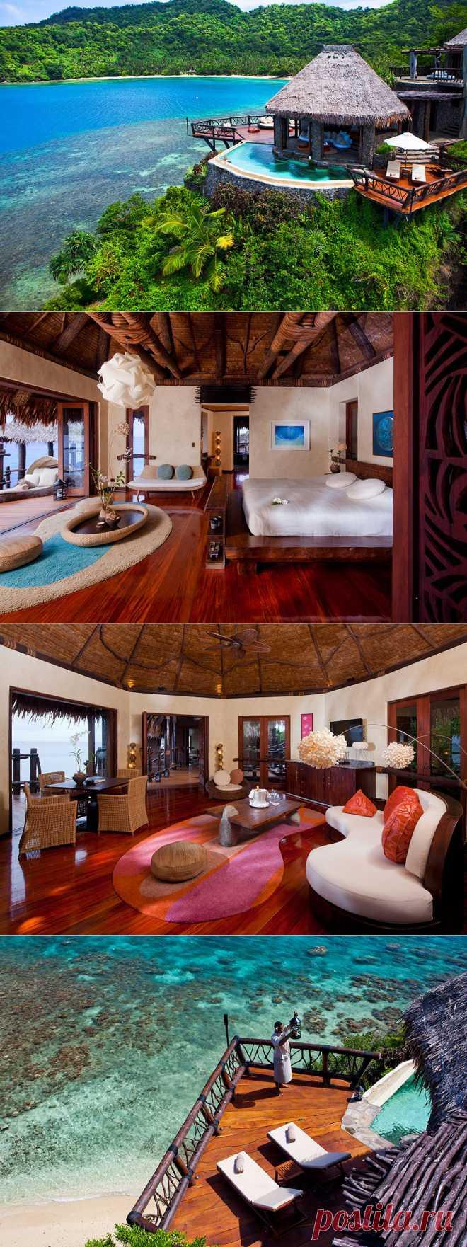 Роскошный отель Laucala на частном острове архипелага Фиджи